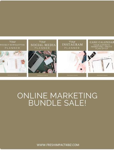 Online Marketing Bundle Sale
