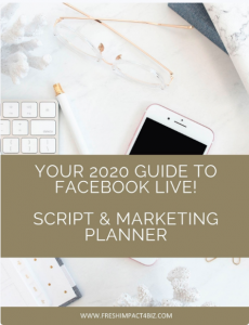 Your 2020 Guide to Facebook Live Script and Marketing Planner